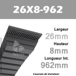 Courroie de Variateur 26X8-962 Li