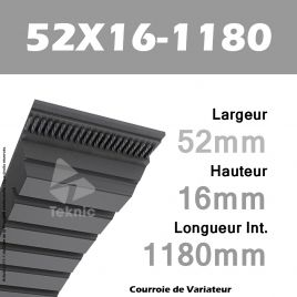 Courroie de Variateur 52X16-1180 Li