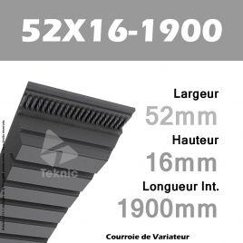 Courroie de Variateur 52X16-1900 Li