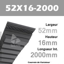 Courroie de Variateur 52X16-2000 Li