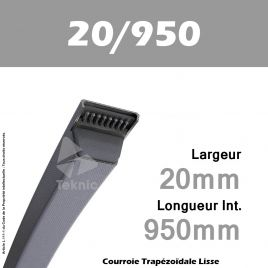 Courroie Trapézoïdale Lisse 20/950