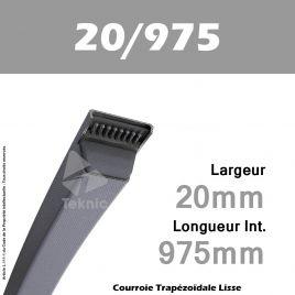 Courroie Trapézoïdale Lisse 20/975