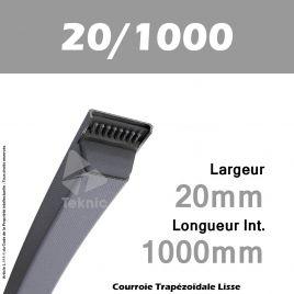 Courroie Trapézoïdale Lisse 20/1000