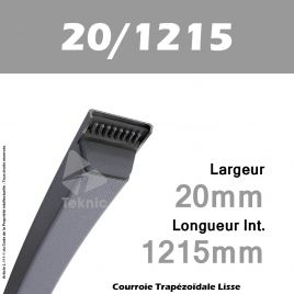 Courroie Trapézoïdale Lisse 20/1215