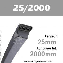 Courroie Trapézoïdale Lisse 25/2000