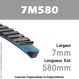 Courroie Polyflex 7M580