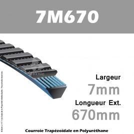 Courroie Polyflex 7M670