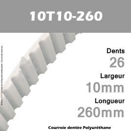 Courroie Dentée PU 10T10-260