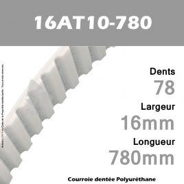 Courroie Dentée PU 16AT10-780