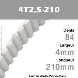 Courroie Dentée PU 4T2,5-210