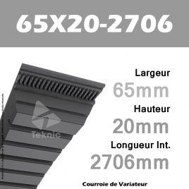 Courroie de Variateur 65X20-2706 Li - W63/2800