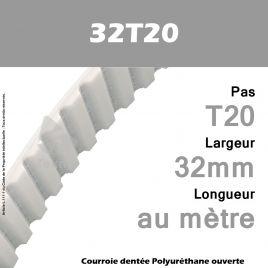 Courroie PU 32T20 Ouverte