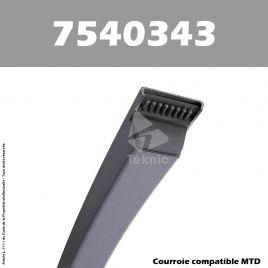 Courroie MTD 7540343