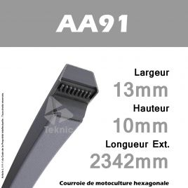 Courroie Hexagonale AA91 - Continental