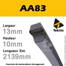 Courroie Hexagonale AA83 - Teknic