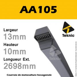 Courroie Hexagonale AA105 - Teknic