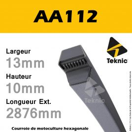 Courroie Hexagonale AA112 - Teknic