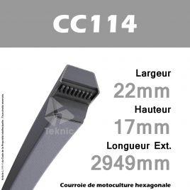 Courroie Hexagonale CC114 - Continental