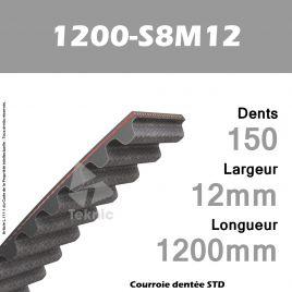 Courroie Dentée 1200-S8M12 TEKNIC
