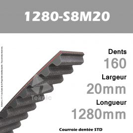 Courroie Dentée 1280-S8M20 TEKNIC