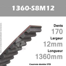 Courroie Dentée 1360-S8M12 TEKNIC