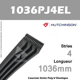 Courroie Flexonic 1036 PJ 4 EL - Hutchinson