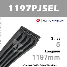 Courroie Flexonic 1197 PJ 5 EL - Hutchinson