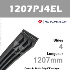 Courroie Flexonic 1207 PJ 4 EL - Hutchinson