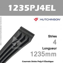 Courroie Flexonic 1235 PJ 4 EL - Hutchinson