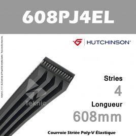Courroie Flexonic 608 PJ 4 EL - Hutchinson