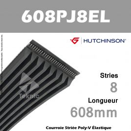 Courroie Flexonic 608 PJ 8 EL - Hutchinson