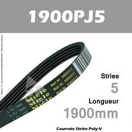 Courroie 1900PJ5 - Miele 5063311