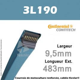Courroie 3L190 - Continental