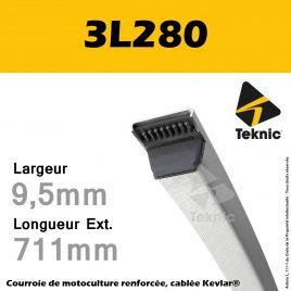 Courroie 3L280 - Teknic