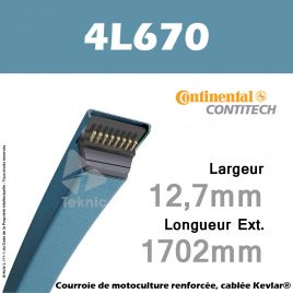 Courroie 4L670 - Continental